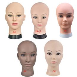 perruques de mannequin cosmétologie Promotion Mannequin chauve tête avec pince mannequin femme tête pour perruque faisant chapeau affichage cosmétologie mannequin pour la pratique de maquillage