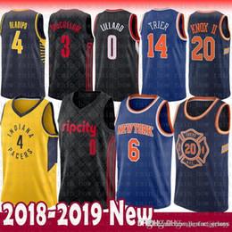 2e80d8873ac Mens Victor 4 Oladipo Indiana Kristaps 6 Porzingis Pacers Kevin 20 Knox II  New York Jersey Knicks Damian 0 Lillard CJ 3 McCollum jerseys indiana jersey  ...