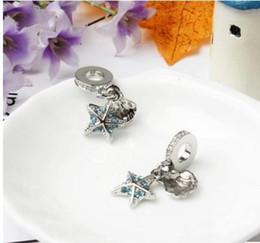 2019 bijoux tropicaux en gros Étoile de mer tropicale Dangle Perles Charmes Pour Le Serpent Européen Charme Chaîne De Mode DIY Bijoux En Gros promotion bijoux tropicaux en gros