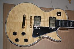 Canada Tigre de guitare électrique personnalisé placage touche ébène brut wrap soie Offre