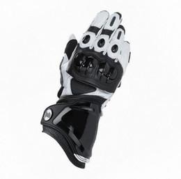 Белые кожаные перчатки онлайн-Новые мужские перчатки GP PRO из натуральной кожи для гонок на мотоциклах, черные, белые