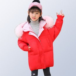 96f3461bf88 Children Winter Coat Teenage Girls Clothing Kids 2018 Girls Winter Jackets  Fur Thick Hooded Long Down Parkas for 6 8 10 12 14 Y discount boys long coat  12