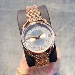 senhoras quartzo valentine Desconto Relógios de luxo mulheres Elegantes Relógios Rose cor Mulheres Relógios Em Aço Inoxidável Senhoras de quartzo relógio de Pulso Valentine Melhor Presente Novo estilo de relógio de moda