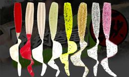 Caudas de lâminas de pesca em plástico macio on-line-grubs Plástico Larva Pesca Bifurcada Cauda de pesca Curly Cauda Soft Lure