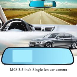 Registrador dvr do carro do veículo on-line-M08 3.5 polegada Gravadores DVR Carro embutido Microfone falante espelho retrovisor Alta definição de gravador de condução de veículos