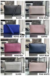 2019 pochette perlée violette portefeuilles concepteur de marque wristlets Porte-cartes Sacs d'embrayage Sacs Mode Olders femmes 6 couleurs BRACELET sangle