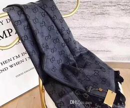 Kaschmir stirnbänder online-Designer Brand Wool Scash Pashmina Headbands Für Damen und Herren Klassischer Designer-Kaschmirschal Schals Decken Damen Schals