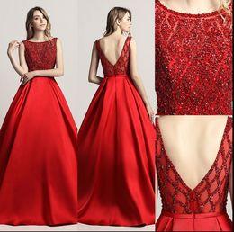 2019 Elegante Frisado Vestidos de Noite V Voltar Jewel Sweep Train Barato A Linha Longos Vestidos de Baile Desgaste da Noite Vestidos Formais Plus Size LX443 de Fornecedores de vestidos indianos simples