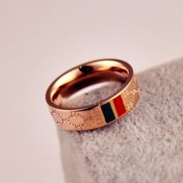 2019 búho bolsas de regalo de navidad Venta al por menor y al por mayor de anillo de acero Titanium clásico plateado rojo dorado de 18 quilates Anillo de acero titanium para parejas en 2019