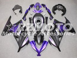 black purple motorcycle fairings Promo Codes - New ABS bike fairings kit for Kawasaki Ninja 300 EX300 2013 2014 2015 2016 2017 fairing motorcycle parts Custom Matte Black Purple