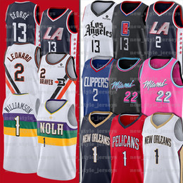 Camisas de basquete paul george on-line-2020 Duke Zion NCAA 1 Williamson Jimmy 2 Kawhi Paul Leonard Homens 13 George Homens Butler faculdade pelicano Clipper Basketball Jersey