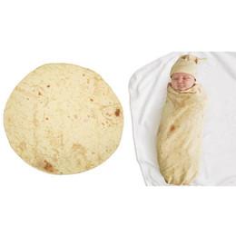 chevron baby decken Rabatt Kreative 56 cm Burrito Decke Baby Mehl Tortilla Swaddle Decke Schlafen Swaddle Wrap Hut Set 1 STÜCK + 1 STÜCK Hut s