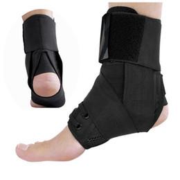 Cinghie di piede online-Caviglia Bretelle fasciatura cinghie Sport Adjustable Safety confortevole compressione alla caviglia Protezioni Supporta Guardia piede Ortesi