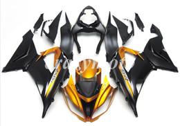 ninja 636 de oro negro Rebajas 4Gifts Nuevos kits de carenados de motocicleta ABS de inyección aptos para kawasaki Ninja ZX6R 636 2013-2016 ZX-6R 13 14 15 16 set custom gold black
