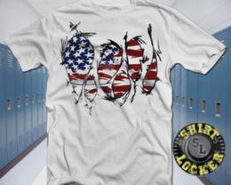 Bandeiras brancas baratas on-line-4 de julho rasgou a bandeira americana camisa branca dia da independência eua fogos de artifício baratos atacado tees100% algodão para mantic shirt impressão