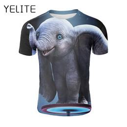 Elefantdruckt-shirt online-Großhandel Dumbo T-Shirt 3d Print Elefant Camiseta Dumbo T-Shirt Amerika Film Dumbo Shirt niedlichen Tier lustige Sommermode