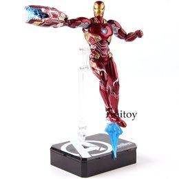 Ironman jouet pvc en Ligne-Figuarts SHF Iron Man MK50 Tamashi scène Figurines PVC Marvel Avengers Infinity War Ironman Mark 50 Modèle de collection Toy