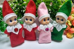 2019 jouets élves Livraison gratuite 5pcs / lot bébé elfe en peluche jouet bébé elfe de Noël sur le plateau en peluche poupées garçon fille figure décoration jouets jouets élves pas cher