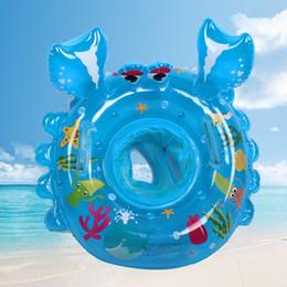 2019 brinquedos de água de espuma Forma de caranguejo inflável anel de natação flutuador natação círculo crianças praia verão festa de água brinquedo crianças esportes de água espuma braço anéis brinquedos de água de espuma barato