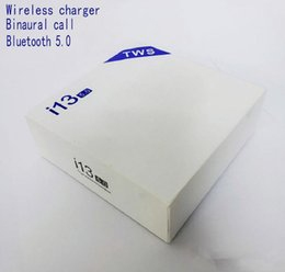 I13 Tws Беспроводные наушники Bluetooth Ture Stereo Bluetooth 5.0 Наушники с сенсорным управлением Беспроводные наушники SIRI Наушники с зарядным устройством Box top от Поставщики красный lg bluetooth наушники