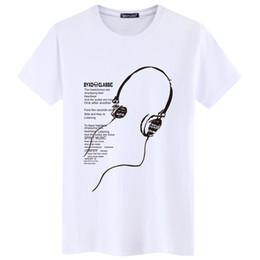Летние наушники онлайн-2019 новые летние мужские классные футболки XL - длинные наушники с короткими рукавами