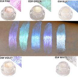 Facendo trucco online-Evidenziatori di luce polarizzati crema 5 colori Aurora arcobaleno Brighten Dazzle trucco senza logo luce camaleonti fare cosmetici private label