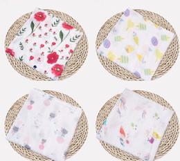 Patrón de mantas de bebé swaddle online-Impresión de patrón de muselina de algodón personalizada de empañar linda bebé de la manta de muselina mantas de bebé muselina bebé EEA596 manta