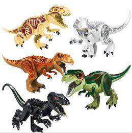 Dinossauro Jurássico Mundo T-Rex Raptor Pterossauro Indominus Rex Carnotaurus Triceratops Dilophosaurus Tiranossauro Blocos de Construção de Grandes Dimensões de