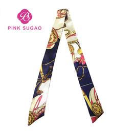 Wholesale Designer Handtaschen Taschentasche Schal Druck Wild Magic Seidenschal Gebundene Tasche Griff Small Ribbon Scarf Kopftuch für Handtaschen