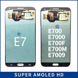 2019 samsung e7 lcd 100% Súper LCD AMOLED para Samsung Galaxy E7 E700 E700F E7000 E7009 Pantalla LCD Pantalla Táctil Digitalizador Reemplazo de la Asamblea rebajas samsung e7 lcd