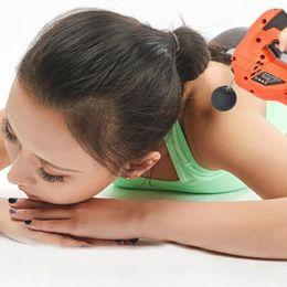 2019 arma silenciosa Ferramenta elétrica da massagem da fáscia vibrante profunda da vibração do músculo - controle de velocidade da laranja 6, fonte de alimentação da CA 220V