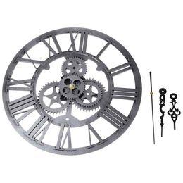 Vintage Antique Style 30cm Horloge Murale Accueil Chambre Cuisine Retro Quartz 30cm Vintage Vieux Grand équipement Numérique Européen