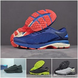 325022dbb Bend GEL KAYANO 25 Originales Nuevo diseño Blanco Rojo Azul oscuro  Zapatillas de deporte para hombre Zapatillas de correr Zapatos deportivos  para caminar ...