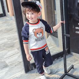 2019 pantalones largos faldas moda Moda infantil ropa niños manga larga camisetas suéter de dibujos animados bebé niños sudaderas con capucha pantalones trajes niñas faldas tops niños ropa conjuntos pantalones largos faldas moda baratos