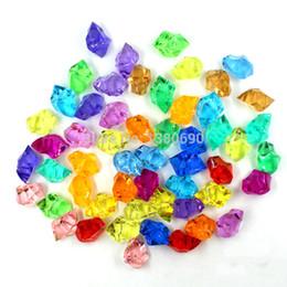 Акриловые ледяные кристаллы онлайн-250шт акриловый Кристалл Камень искусственный лед кубики Домашний сад Аквариум декор Diy аксессуары свадебные украшения конфетти