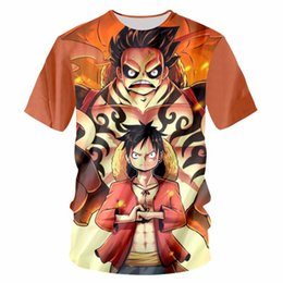 Men's Clothing One Piece Monkey D.luffy T-shirt For Teenage Boys Girls Tshirt Summer Short Sleeve Cotton Tee Shirts Streetwear Tops Fans Gift