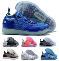 Случайный кд онлайн-2019 KD 11 Повседневная обувь черный серый персидский фиолетовый хлор синий кроссовки Кевин Дюрант 11s дизайнер мужские кроссовки обувь 82