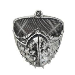 Máscara de cachorro preto on-line-Assista Cão Rebite Máscara Do Punk Máscara Do Partido Do Dia Das Bruxas Máscaras Mulheres E Homens de Plástico Preto De Prata Respirável 2 88lh C1