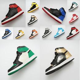 Dedo do pé quente on-line-Sapatos de grife HOT 1 OG Sapatos de Basquete Mens Chicago 1S 6 MID Novo Amor UNC Sapatos Esportivos MULHERES anéis Sapatilhas Bred Toe Trainers tamanho 36-47