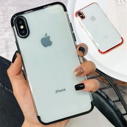 Canada Coque Iphone XS MAX pour téléphone mobile iphone X / 8 plus coque en matériau TPU galvanoplastie à trois niveaux, coque de protection 6S souple cheap iphone stages Offre