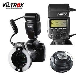 2019 ring speedlite All'ingrosso JY-670C foto DSLR Camera LED TTL Macro Ring Lite Speedlite luce per Canon 1300D 800D 77D 5D Mark IV 7D II 6D 80D ring speedlite economici