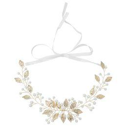 Accessori di capelli dei fiori di seta di cerimonia nuziale online-Nuovi fiori di seta fatti a mano Corona di perle Corona di nastro Bellezza ghirlande floreali da sposa Accessori per capelli da donna
