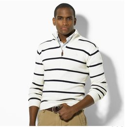 cardigan para hombre xxl Rebajas 19SS Ralph Lauren hombres del suéter para hombre Tire de lana jersey de cuello alto puente marca Sellin diseñador de los hombres de lujo del tirón de lujo suéteres cardigan hombres