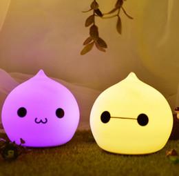 La goccia d'acqua ha portato le luci di notte online-Lovely 7 colori goccia d'acqua Night Light Silicone morbido regalo per bambini LED Touch Light regalo di Natale Lampada del fumetto