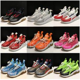 Sapatos para mulheres on-line-New Versace 2.0 Chain Reaction Homens Mulheres Luxury Designer Casual Shoes sapatos Eleva Moda sneaker multi Clash sapatos Animalier Esporte