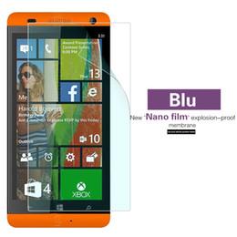Patlamaya dayanıklı Nano Yumuşak Film Blu Win HD JR W410A Anti-paramparça Plastik Ekran Koruyucu Film Telefon Ön Koruma Kapak nereden