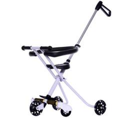 Kinderwagen online-Tragbare Klappstahl Baby Dreirad Kinderwagen Leichte Drei Räder Kinderwagen Kinderwagen Kinderwagen Buggy Reise Kinderwagen