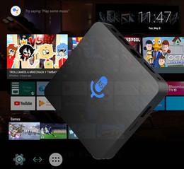 voz 10pcs Custom Made Google controlada Smart TV OS T1 2GB / 16GB 1GB / 8GB, núcleo S905W Quad 4k inteligente Android 7.1 Stream TV Box de