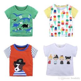 Cartoons di gelato estivo online-T-shirt per bambini T-shirt in cotone a maniche corte T-shirt mezza scuola ragazzo estate gelato stampa girocollo 4