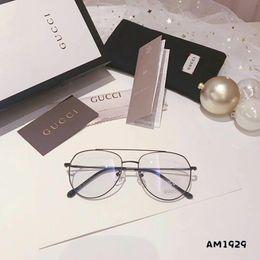 gafas de sol azules para hombres Rebajas Nuevas gafas de diseñador de moda Espejo plano Gafas de sol de lujo para hombres Mujeres Gafas de luz anti-azul G1929 Alta calidad con caja